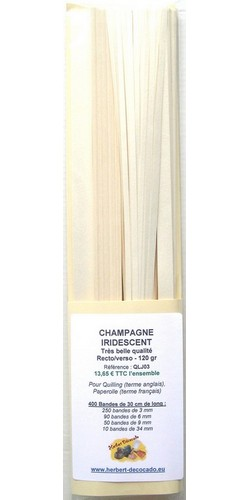 400 bandes CHAMPAGNE - IRIDESCENT Recto/Verso - 120 gr